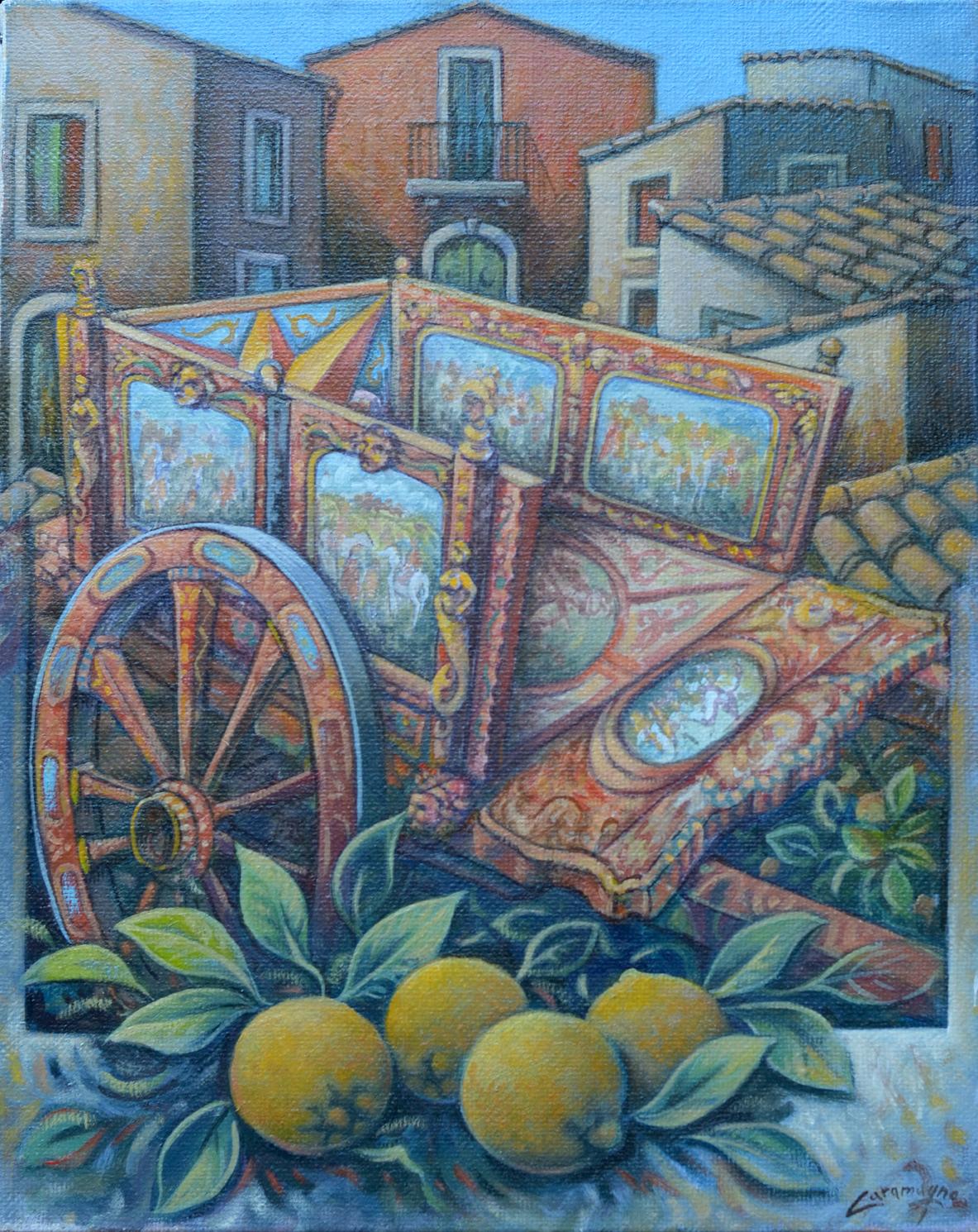 Carretto e limoni cm. 40x50