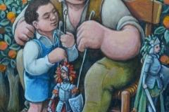 Padre e figlio cm. 25x30