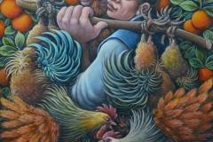 Portando i polli al mercato cm. 60x70