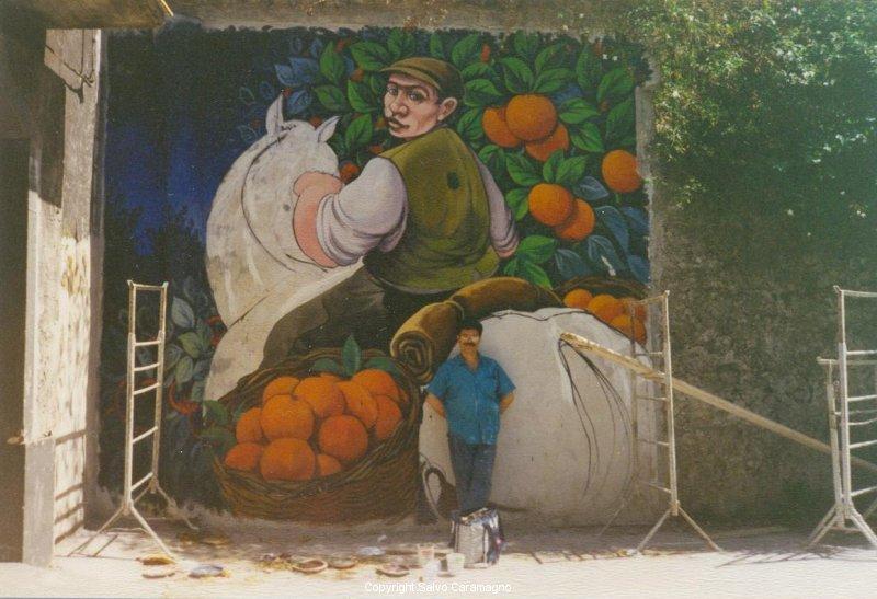 Linguaglossa (CT)-Cavaliere nel Giardino di aranci