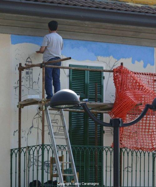 Pogno (NO) - Murale in esec.(partic)