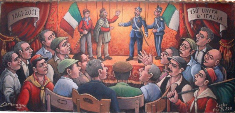 murale- 1861-2011 150 unità d\'Italia