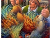 Mercante di polli cm. 70x70